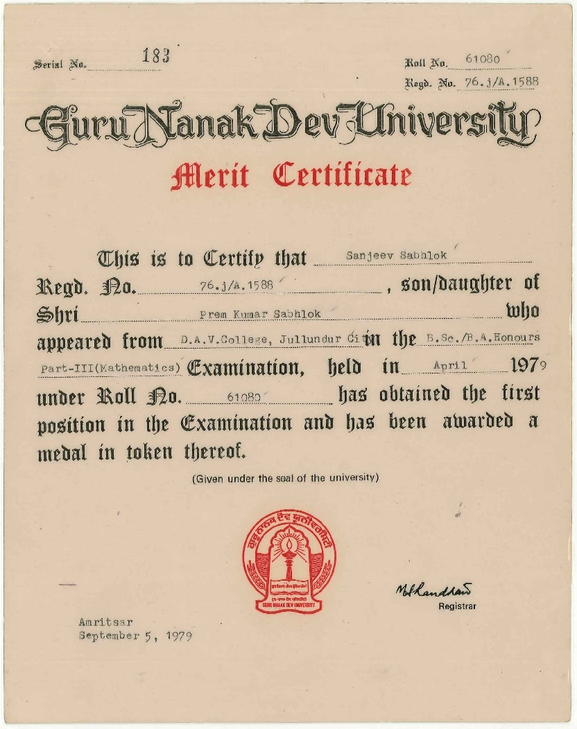 Certificates Of Degrees Diplomas Trainings